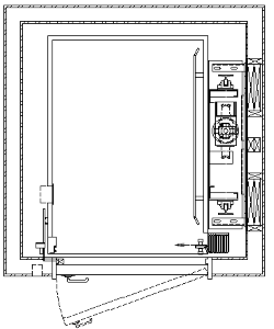 Layout drawings canton home elevator for Elevator plan drawing